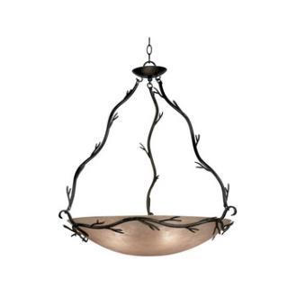 Kenroy Lighting 90904BRZ Twigs Pendant-24 inch Bowl