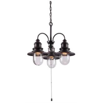 Kenroy Lighting 93033ORB Broadcast - Three Light Outdoor Chandelier