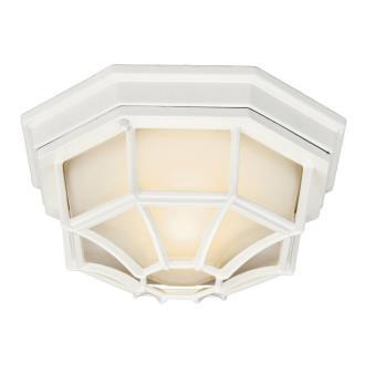 Kichler Lighting 11028WH One Light Outdoor Flush Mount