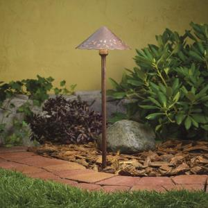 kichler path lights lowes low voltage 22quot led hammered roof path light lights and landscape lighting fixtures