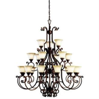 Kichler Lighting 2219TZG Larissa - Twenty One Light Three Tier Chandelier