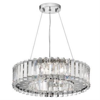 Kichler Lighting 42195CH Crystal Skye - Eight Light Pendant