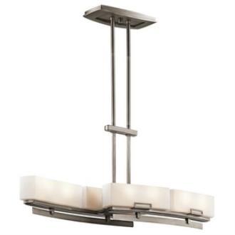Kichler Lighting 42427AP Leeds - Eight Light Linear Chandelier