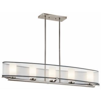 Kichler Lighting 42920CLP Saldana - Five Light Linear Chandelier