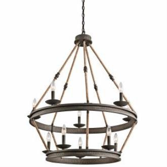 Kichler Lighting 43424OZ Kearn - Ten Light 2-Tier Chandelier