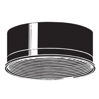 "Kichler Lighting 9546BK Accessory - 6"" Baffle"