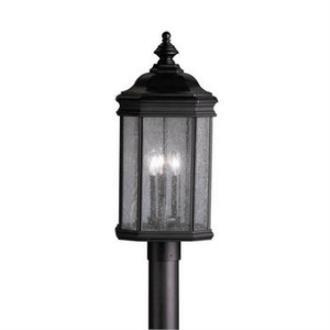 Kichler Lighting 9918BK Kirkwood - Three Light Outdoor Post Mount