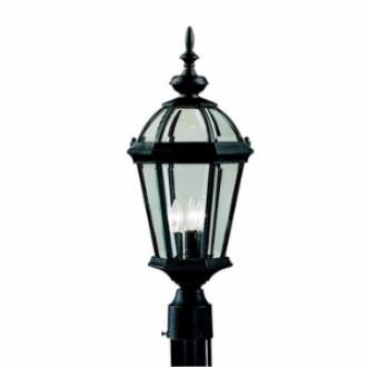 Kichler Lighting 9951BK Trenton - Three Light Post Mount