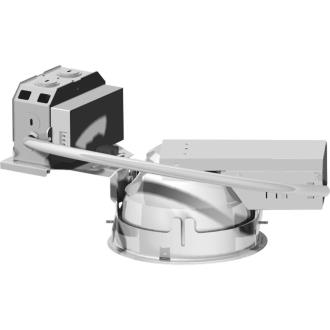 """Progress Lighting P168H-DVEBSD 6"""" Two Light 18W Small Diameter Horizontal Commercial Retrofit Housing with Electronic Ballast"""