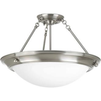 Progress Lighting P7329-09WB Eclipse - Four Light Semi-Flush Mount