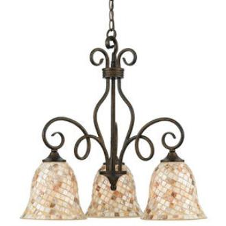 Quoizel Lighting MY5103ML Monterey Mosaic - Three Light Chandelier
