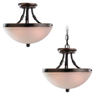Sea Gull Lighting 77330-825 Two-Light Warwick Flush / Hanging Ceiling Light