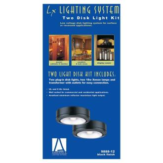 Sea Gull Lighting 9888-12 Two Light Black Plug-in Ambiance Disk Kit